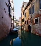Gondolas on the canals of Venice royalty free stock image