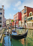 Gondolas and canals in Venice, Italy Stock Photo