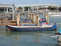 Gondolas and canals in Venice, Italy -- oh my!. Ancient buildings and waterways, with gondolas floating through them is the epitome of Venice,Italy. Here are Royalty Free Stock Photography