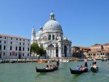 Gondolas and church royalty free stock photos
