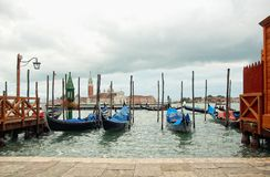 Gondolas on a Cloudy Day Stock Photography