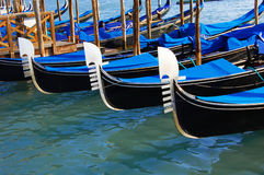 Gondolas detail in Venice Royalty Free Stock Photos