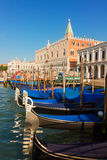 Gondolas  and Doge palace, Venice, Italy Royalty Free Stock Photography