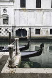 Gondolas and Doge`s palace in Venice, Italy Royalty Free Stock Photo