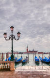Gondolas floating in the Grand Canal Royalty Free Stock Images