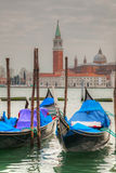 Gondolas floating in the Grand Canal Royalty Free Stock Image