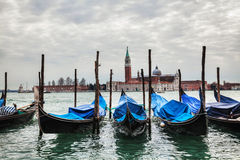 Gondolas floating in the Grand Canal Royalty Free Stock Photography