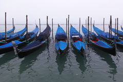 Gondolas in fog Royalty Free Stock Images