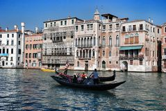 Gondolas and gondoler Stock Images