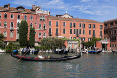 Gondolas and gondoliers Stock Image