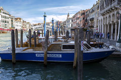 Gondolas and gondoliers Royalty Free Stock Images