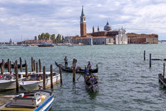 Gondolas and gondoliers Stock Photography