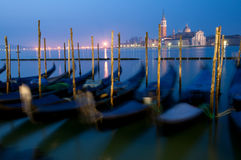 Gondolas on Grand Canal Royalty Free Stock Images