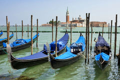 Gondolas on Grand Canal. Royalty Free Stock Photography
