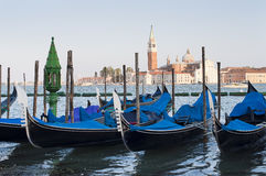 Gondolas on Grand Canal. Stock Photo