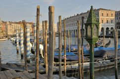 Gondolas on the Grand Canal Stock Photography