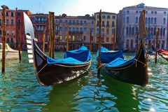 Gondolas on the Grand Canal Royalty Free Stock Photo
