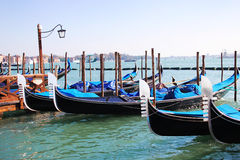 Gondolas on Grand canal, Venice Royalty Free Stock Image