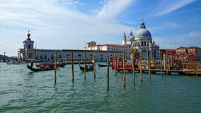 Gondolas on the Grand Canal in Venice Royalty Free Stock Photo