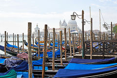 Gondolas in Grand Canal Stock Images