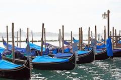 Gondolas in Grand Canal Stock Image