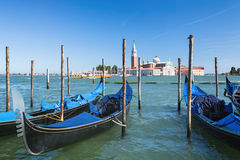 Gondolas on Grand Canal, Venice Stock Photos