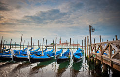 Gondolas at Grand Canal, Venice, Italy Stock Photos