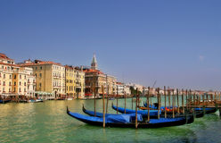 Gondolas on Grand Canal in Venice, Italy. royalty free stock photo