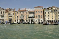 Gondolas on the Grand Canal Royalty Free Stock Images