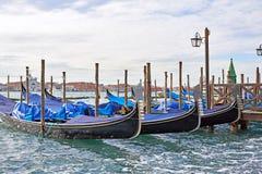 Gondolas in Grand Canal, Venice Royalty Free Stock Photo