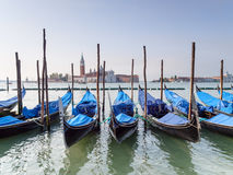 Gondolas on the Grand Canal Venice, Italy Stock Images