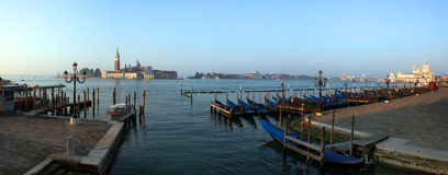 Gondolas on Grand Canal Stock Images