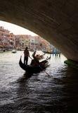 Gondolas on the Grand Canal in Venice Stock Photos