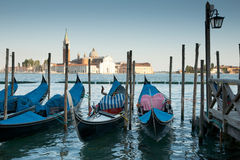 Gondolas lined up waiting. Stock Images