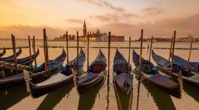 Free Gondolas Moored In St. Mark`s Square, Venice, Italy Stock Photography - 165659152