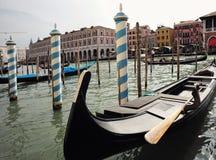 Gondolas at moorings Royalty Free Stock Photos