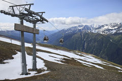 Gondolas at Mount Schareck, Austria Stock Photography