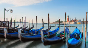 Gondolas near Piazza San Marco Stock Photography