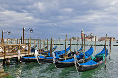 Gondolas near Piazza San Marco in Venice Stock Photography