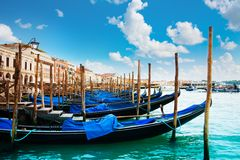 Gondolas near San Marko Stock Photo