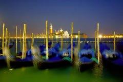 Gondolas in night Stock Images