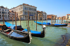 Free Gondolas On Grand Canal In Venice, Italy. Royalty Free Stock Photography - 19910797