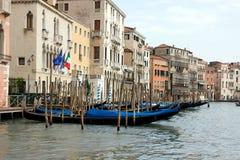 Gondolas On The Grand Canal, Venice, Italy Stock Photos