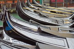 Gondolas in the parking lot, the open aperture Royalty Free Stock Photo