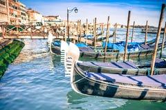 Gondolas at the  Piazza San Marco, Venice Royalty Free Stock Photos