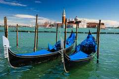 Gondolas Piazza San Marco, Venice, Italy Stock Images