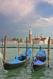Gondolas  by the Piazzetta di San Marco in Venice Royalty Free Stock Photography