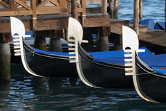 Gondolas prows Stock Image