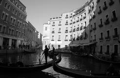 The Gondolas is ready.Venice.Italy. The Gondolas is ready,Black and White photo. 2019 royalty free stock photo