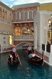 Gondolas and river at Venetian hotel Las Vegas Stock Image